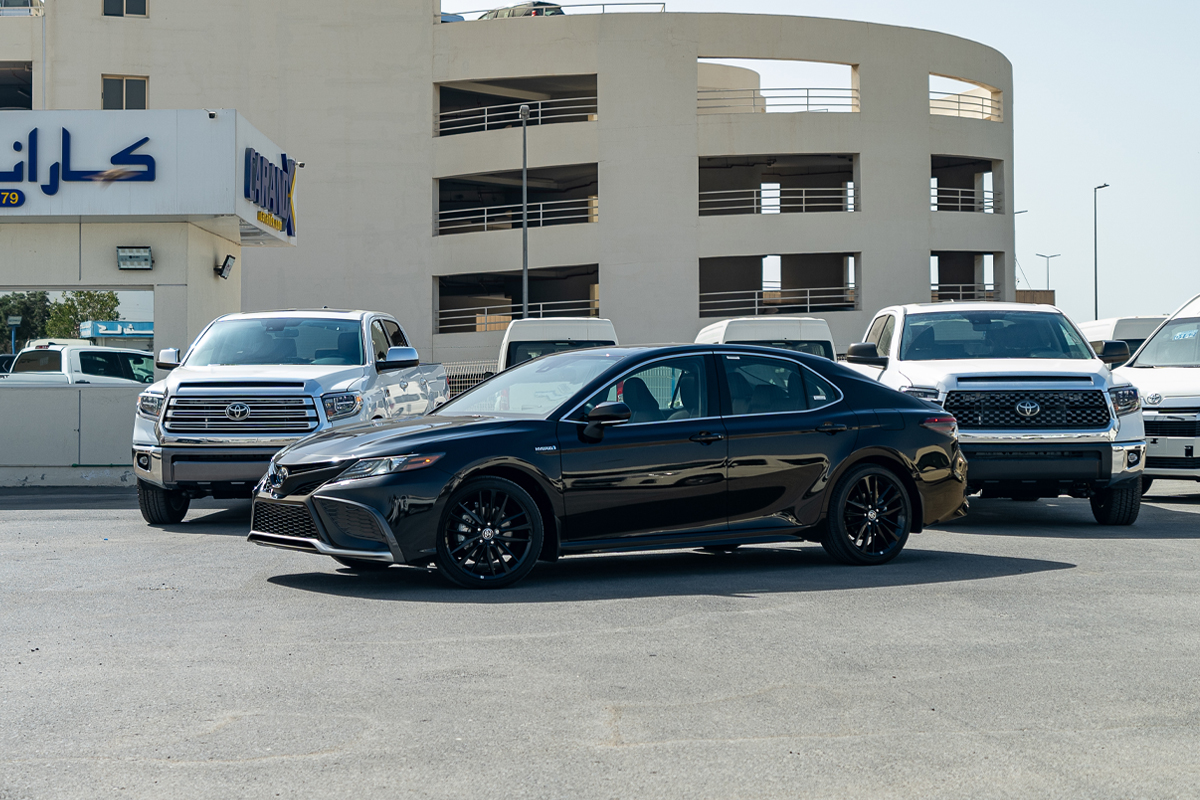 Toyota Camry XSE Hybrid 2021 Black Interior