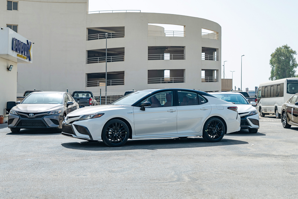 Toyota Camry XSE Hybrid 2021 Red Interior